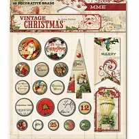 Брадс 20 шт MME VINTAGE CHRISTMAS VC1014